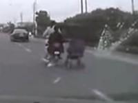 Babywagen und Scooter