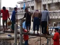 Bauarbeiter in Thailand