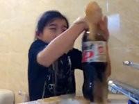 Cola und Mentos Streich