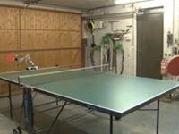 Cooler Tischtennis-Roboter