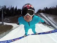 Dem Skispringer ganz nahe