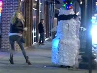 Der böse Schneemann - Streich