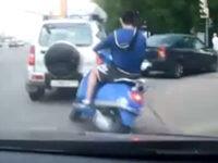 Dreister Scooter-Fahrer