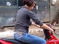 Echt schickes Moped