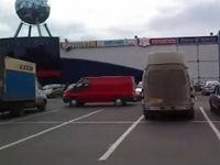 Ein ganz normaler Parkplatz in Russland