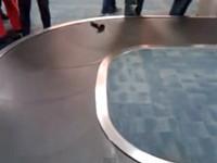 Kurioses Objekt auf dem Kofferband