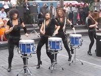 Mädels-Drummer-Band