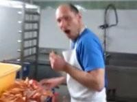 Mal den Koch erschrecken