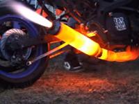Motorrad zum Glühen bringen