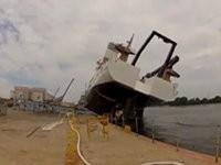 Schiff zu Wasser lassen - Fail