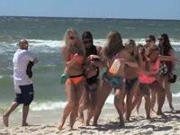 Streich: Mit dem Stinktier am Strand herum laufen