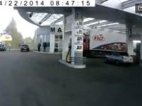 Tankstelle explodiert