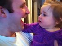 Tochter vermisst Papas Bart