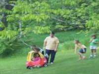Vater rettet Kind