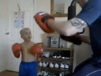 Zukünftiger Profi Kickboxer